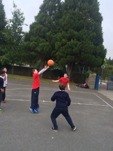 Basketball with Community College Transition Year students