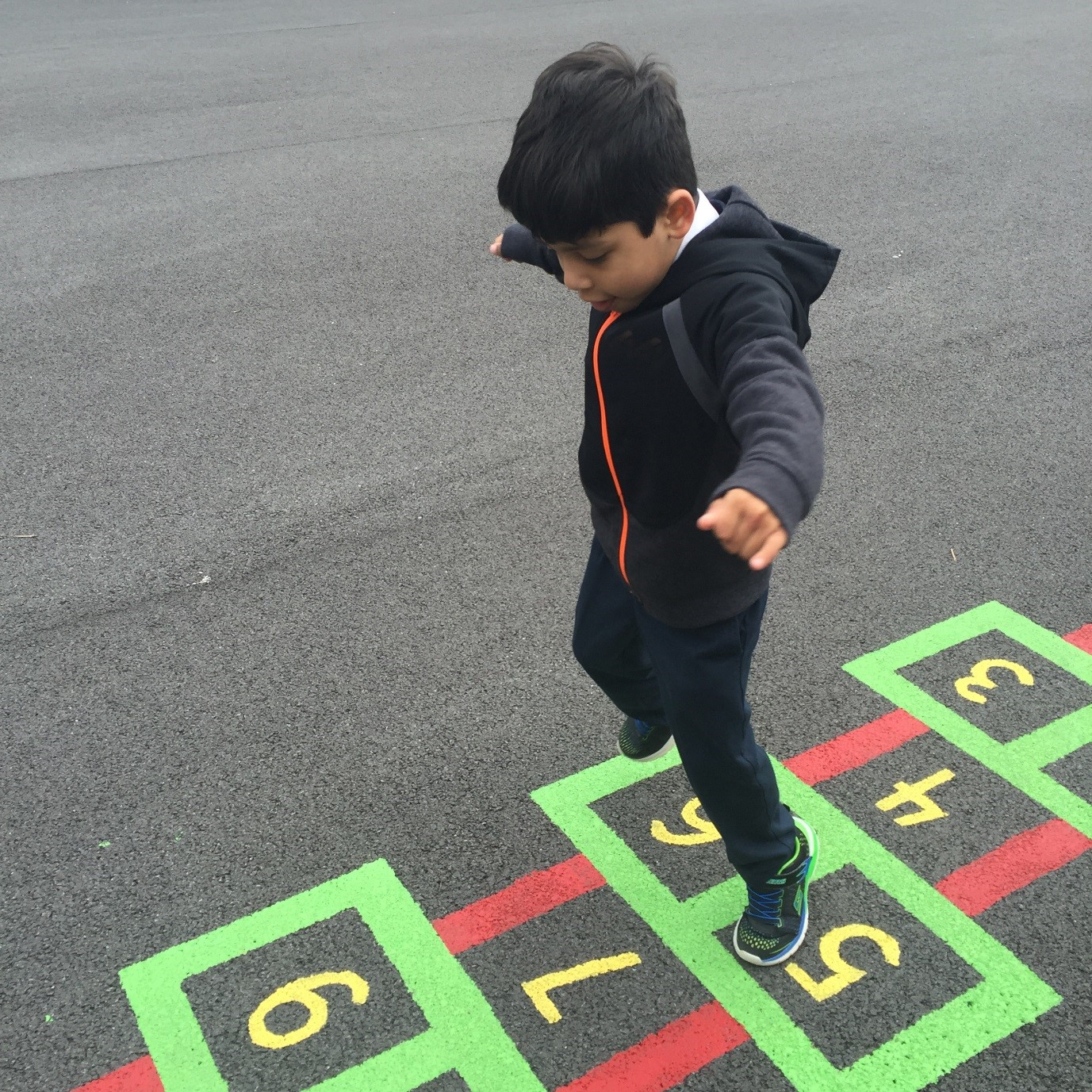 We even had time for a quick game of hopscotch!
