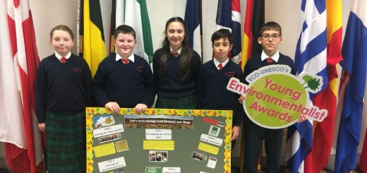 Pupils from 5th Class with their project