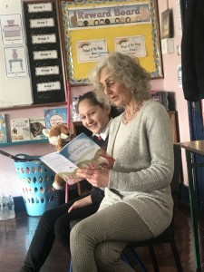 Judith reading a story