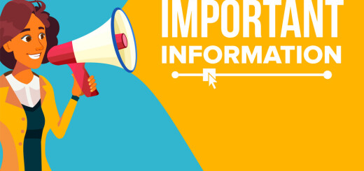 Important Information Banner Vector. Business Woman With Megaphone. Loudspeaker. Business Advertising. Text. Attention Illustration