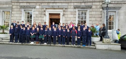 On the steps of the Dáil